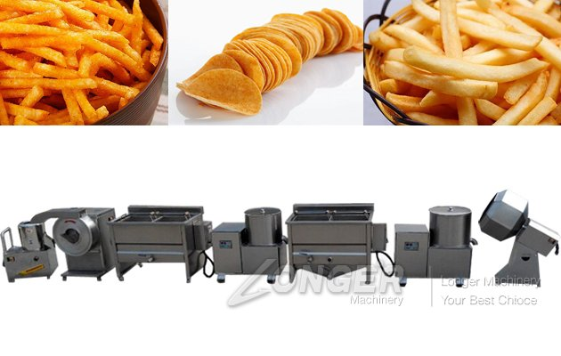 Stainless Steel Potato French Fries Maker Machine
